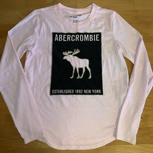 Abercrombie kids girls long sleeve shirt 13/14